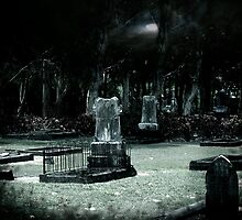 old cairns cementry at night by Raelene  Buchanan Grace
