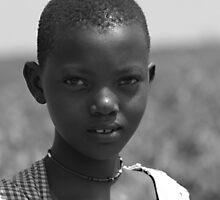 Young girl - Masai Mara - Kenya by Bindy Pease