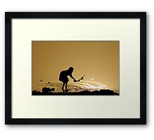 Sunrise on the Niger River (Mali) Framed Print