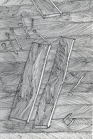 Wood Flooring... a doodle! by James Lewis Hamilton