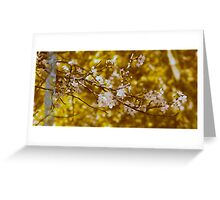 Blossoming Gold Greeting Card