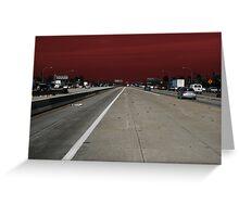 Freeway Red Greeting Card