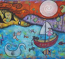 The Adventurers-acrylic by Juli Cady Ryan
