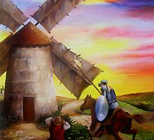 Don Quixote's Windmill Adventure by Dominica Alcantara