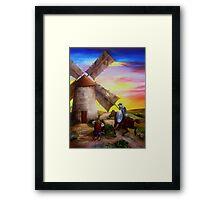 Don Quixote's Windmill Adventure Framed Print