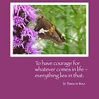 Courage Butterfly on Wildflower by SandraRose