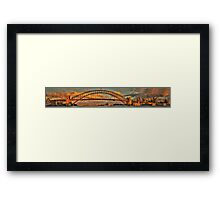 Point To Point - Sydney Harbour Bridge (35 Exposure HDR Panorama) - The HDR Experience Framed Print