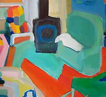 My living room and a lambskin by Kerry  Thompson