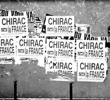 Chirac Poster by Gordon Lukesh