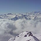 cloud inversion in Val Thorens, Trois Vallees, France by zuzanab