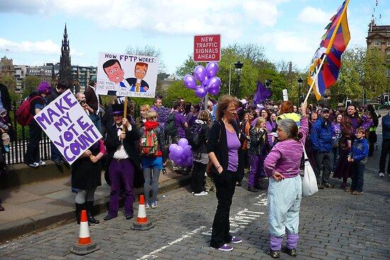 Purple People Edinburgh Rally: New Traffic Signals Ahead by Yonmei