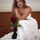 The Dark Red Rose by Alenka Co