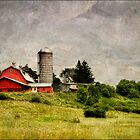Barn on the Hill by Claudia Kuhn