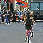 She rides with high heels down Bourbon Street by Turtle6