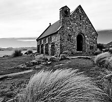 Church of the Good Shepherd (bw) by Werner Padarin