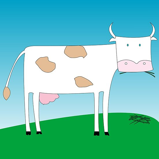 A cow eating grass by Laschon Robert Paul