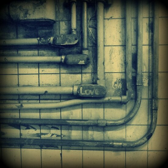 Love & rusted subway pipes by ShellyKay