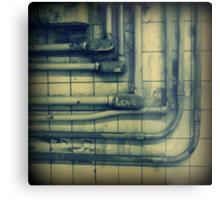 Love & rusted subway pipes Metal Print