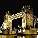 TOWER BRIDGE LONDON / GOLD by Scott  d&#x27;Almeida