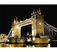 TOWER BRIDGE LONDON / GOLD Photographic Print