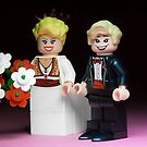 Lego Bride and Groom by Kevin  Poulton - aka 'Sad Old Biker'