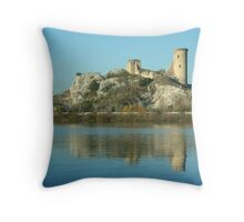 View along the Rhone: A Castle That Was Throw Pillow