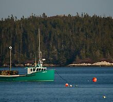 Lobster Fishing in Nova Scotia Canada by Roxane Bay