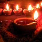 """ Divine diyas on Diwali ""  by Amrit Ammu"