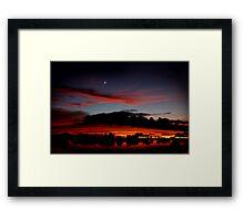Under A Crescent Moon Framed Print