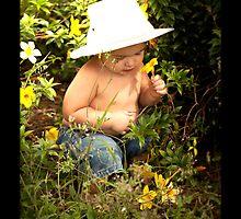 in the garden by Raelene  Buchanan Grace