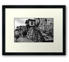 The Back Streets Of Artena Framed Print