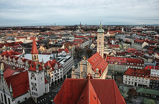 Munich Rooftops by Lynne Morris