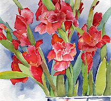 Red Glads by Nikki Atkinson