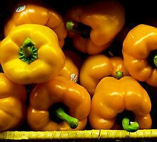 Yellow Peppers by phil decocco