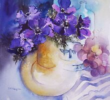 Anemones and China by artbyrachel
