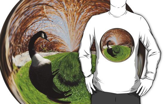 Swirly Goose Amazing Circle T-shirt by Judi FitzPatrick