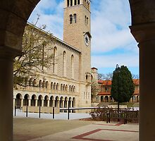 Winthrop Hall Through An Arch by Eve Parry