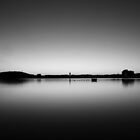 Lake Burley Griffin Sunrise - B&W by Jake Gumley