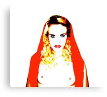 Virgin Red Scarf Canvas Print