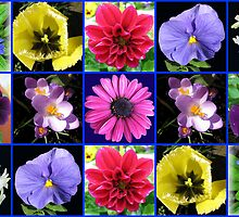Voices of Spring - Flowers Rejoicing Collage (9 frames) by BlueMoonRose
