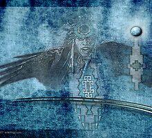 blue lightning by arteology