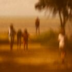 Beach goers by LouD