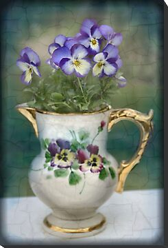 Pitcher Full of Pansies by sherln