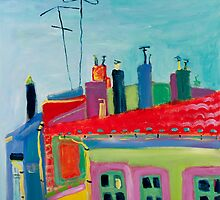 Toulouse roofs by Kerry  Thompson