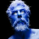 Self Portrait in Blue by Chris Maher