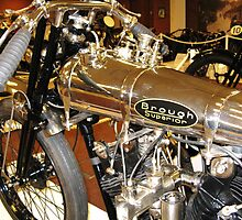 Brough Superior Gleams In Birmingham by artwhiz47