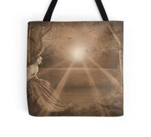 Forest retreat in Sepia Tote Bag