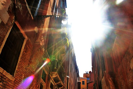 light flare through the buildings by xxnatbxx