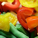 Capsicums & Green Beans by mjds