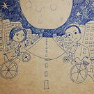 bikeride (doodling my last year) by Anastasiia Kucherenko